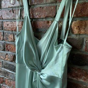 NWT Jill Stuart Satin Mint Strappy Dress
